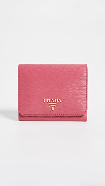 What Goes Around Comes Around Prada Wallet - Pink