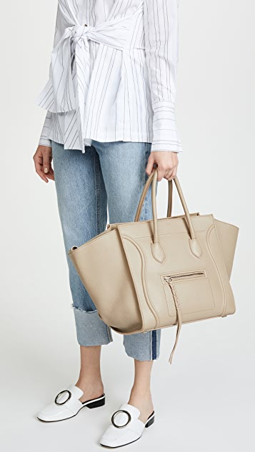 What Goes Around Comes Around Celine Medium Leather Phantom Tote