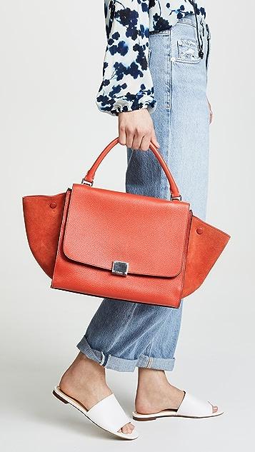 What Goes Around Comes Around Кожаная трапециевидная сумка Celine