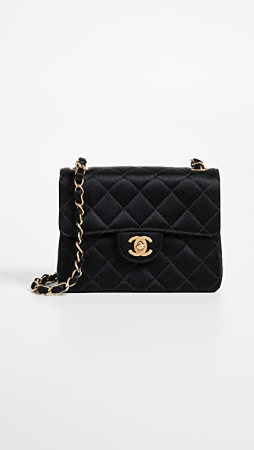 Chanel Satin Half Flap Mini Bag by What Goes Around Comes Around