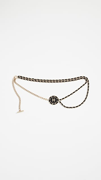 What Goes Around Comes Around Chanel Black Chain Belt