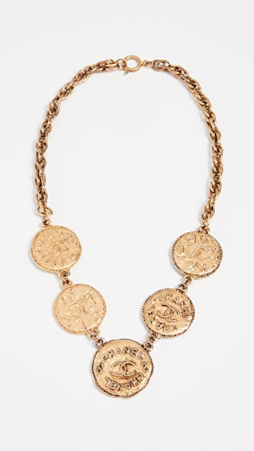 What Goes Around Comes Around Chanel CC Coins Necklace