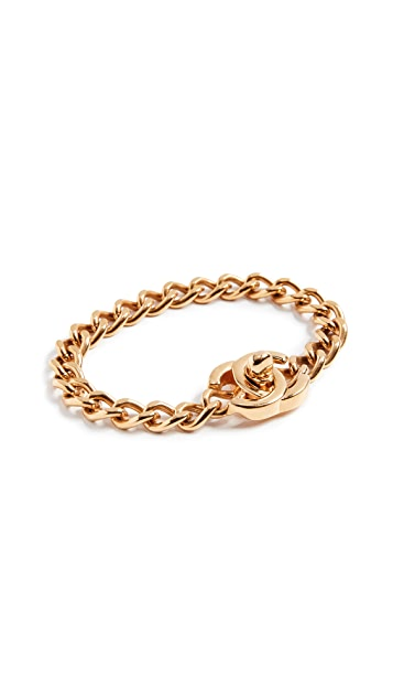 What Goes Around Comes Around Chanel Turn Lock Bracelet