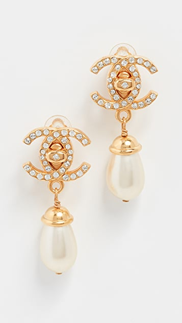 What Goes Around Comes Around Chanel CC Dangling Earrings