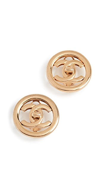 What Goes Around Comes Around Chanel Circle Earrings