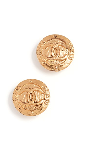 What Goes Around Comes Around Chanel Paris Round Earrings