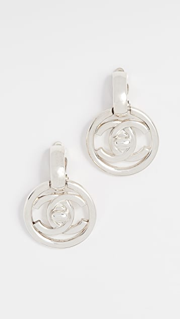 What Goes Around Comes Around Chanel Turn Lock in Circle Earrings