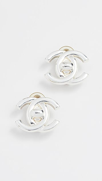 What Goes Around Comes Around Chanel Turn Lock Earrings