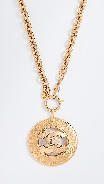 What Goes Around Comes Around Chanel CC Sunburst Necklace