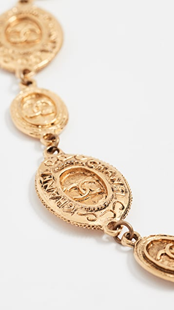 What Goes Around Comes Around Chanel Oval Coin Necklace