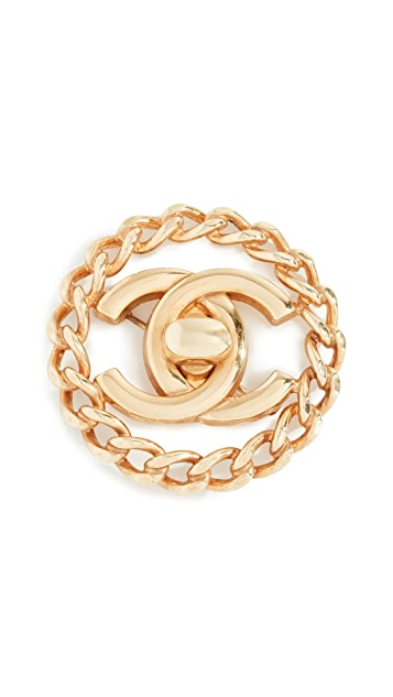 What Goes Around Comes Around Chanel CC in Circle Pin
