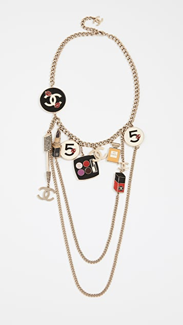What Goes Around Comes Around Chanel Cosmetics Necklace