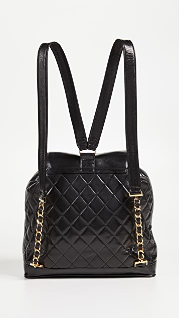 What Goes Around Comes Around Chanel Leather Backpack