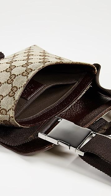 What Goes Around Comes Around Холщовая поясная сумка Gucci