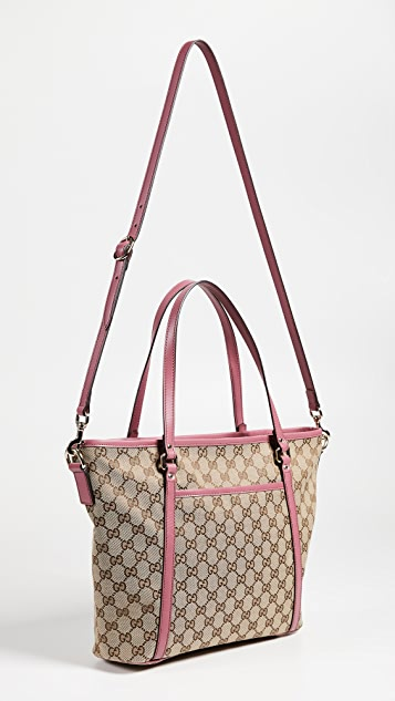 What Goes Around Comes Around Gucci Canvas Tote Bag