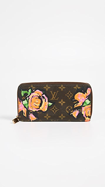What Goes Around Comes Around Louis Vuitton Roses Zippy Wallet