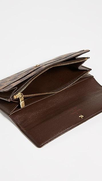 What Goes Around Comes Around Louis Vuitton Damier Ebene Sarah Wallet