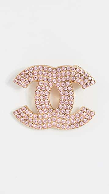 What Goes Around Comes Around Chanel Crystal CC Hair Pin