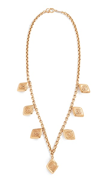 What Goes Around Comes Around Chanel Charm Necklace