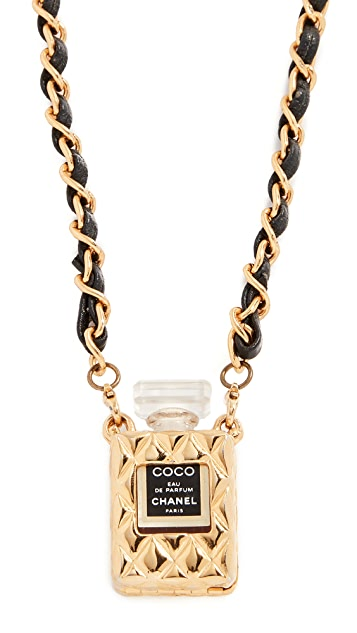 What Goes Around Comes Around Chanel Quilted Perfume Necklace