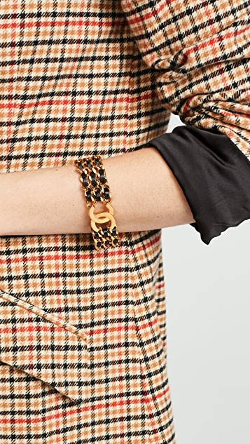 What Goes Around Comes Around Chanel Leather Bracelet