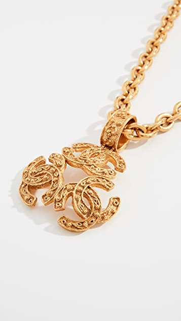 What Goes Around Comes Around Chanel Gold Triple CC Necklace