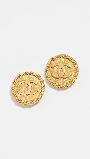 What Goes Around Comes Around Chanel Sunburst Earrings