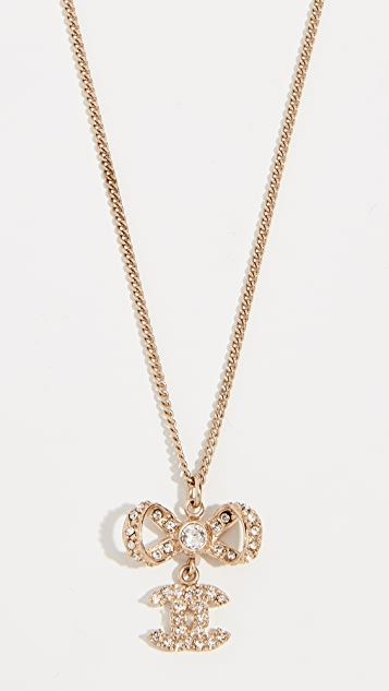 What Goes Around Comes Around Chanel Crystal CC Necklace