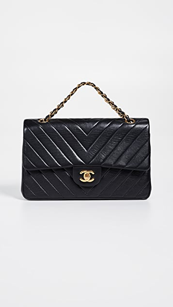 11b6bbcdaccc What Goes Around Comes Around Chanel Chevron Flap Bag | SHOPBOP
