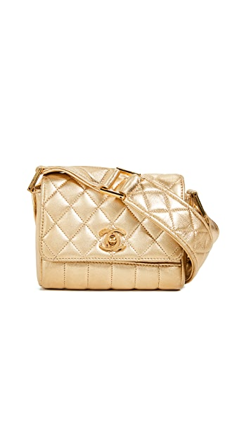 What Goes Around Comes Around Chanel Metallic Shoulder Mini Bag