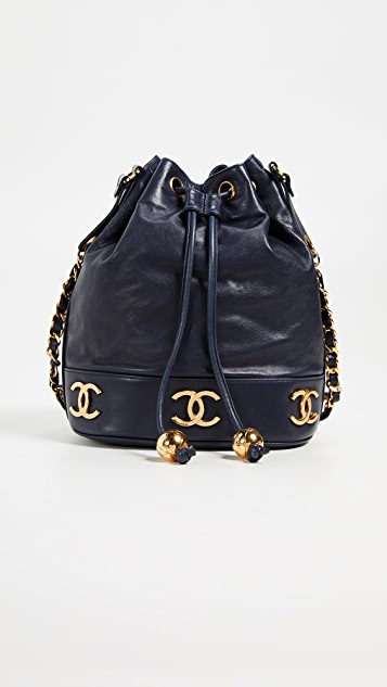 c46a6cf6bdd2 What Goes Around Comes Around Chanel Lambskin 3CC Bucket Bag | SHOPBOP