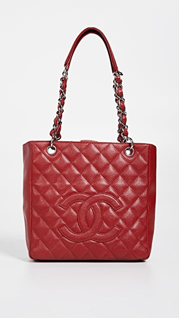a32d0209e758 What Goes Around Comes Around Chanel Red Caviar Petite Shopper Tote ...
