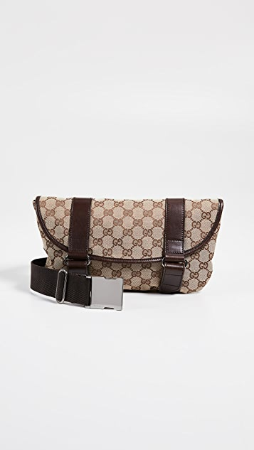 What Goes Around Comes Around Gucci Canvas Waist Pouch