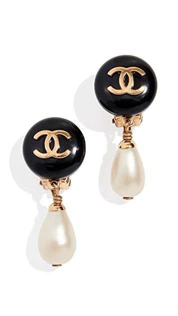 What Goes Around Comes Around Chanel  Pearl Dangle Earrings