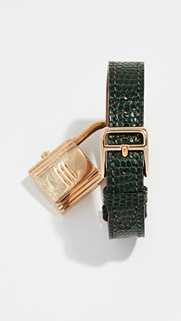 What Goes Around Comes Around Hermes Lizard Kelly Watch, 20mm