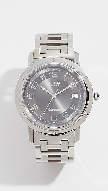 Hermes Grey Clipper GM Watch, 38mm