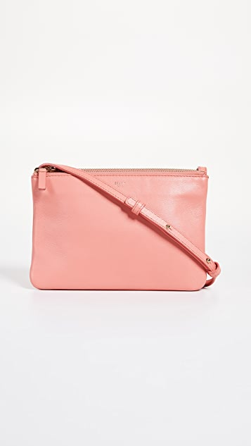 What Goes Around Comes Around Celine Pink Leather Trio Small Crossbody Bag