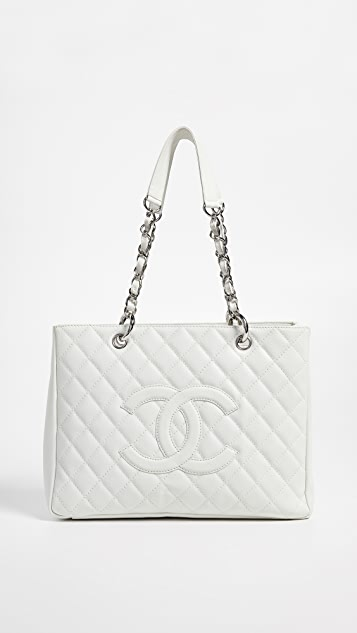 7514409d267b What Goes Around Comes Around Chanel White Caviar Grand Shopper Tote ...