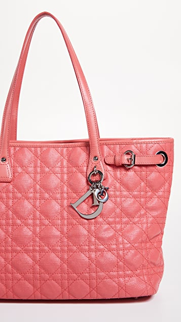 What Goes Around Comes Around Dior Pink Coated Canvas Panarea Bag