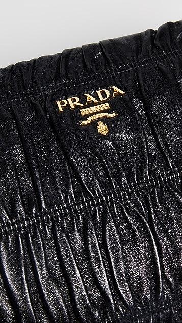 b311a05214d2 ... What Goes Around Comes Around Prada Black Nappa Gaufre Clutch ...