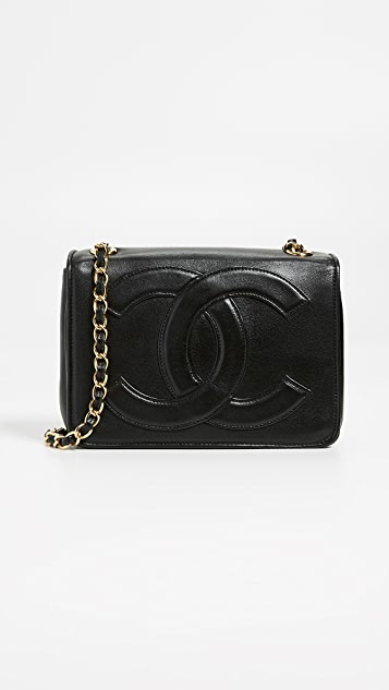 48b64c16d4b19d What Goes Around Comes Around Chanel Black Flap Mini Bag | SHOPBOP