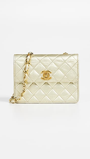 8a0492db60a2 What Goes Around Comes Around Chanel Half Flap Micro Mini Bag | SHOPBOP