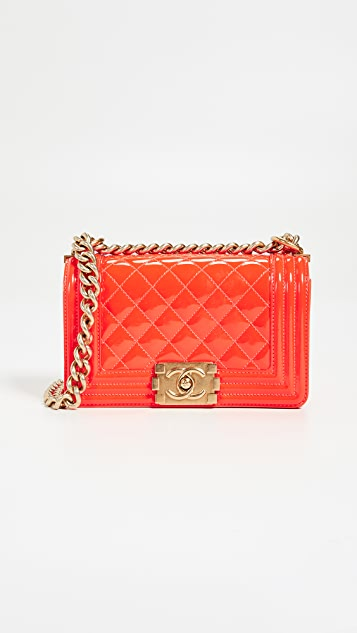4d7f5e1ab01a What Goes Around Comes Around Chanel Patent Boy Small Bag | SHOPBOP