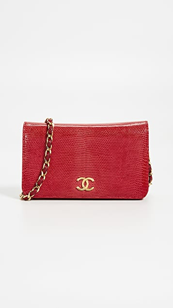 6cf7d0fd420c1e What Goes Around Comes Around Chanel Red Lizard Snap Small Bag | SHOPBOP