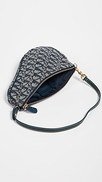 What Goes Around Comes Around Dior Navy Canvas Saddle Mini