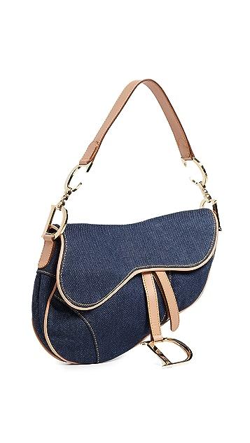 What Goes Around Comes Around Седельная сумка Dior из синего денима