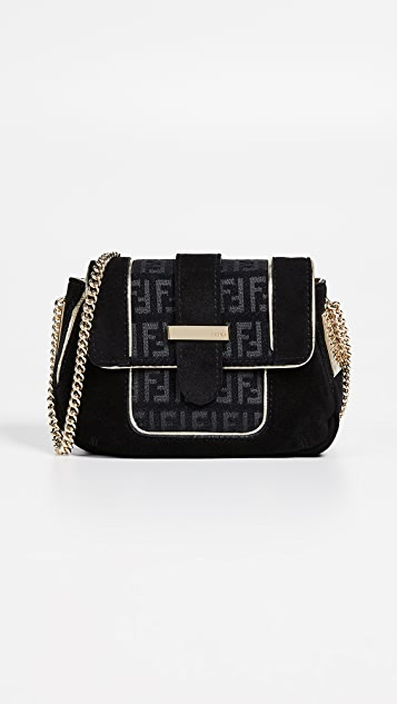Fendi Black Suede Shoulder Bag by What Goes Around Comes Around