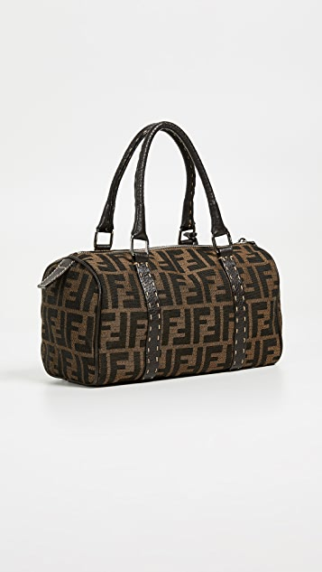 What Goes Around Comes Around Fendi Brown Zucca Boston Mini