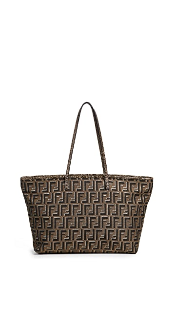 What Goes Around Comes Around Fendi Brown Zucca Roll Bag