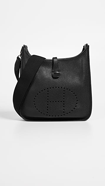 ... france what goes around comes around hermes black clemence evelyne iii  pm bag 5d12b 28f87 bdc531366a205